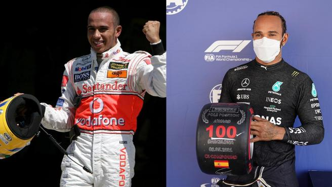 Lewis Hamilton's first and 100th pole positions