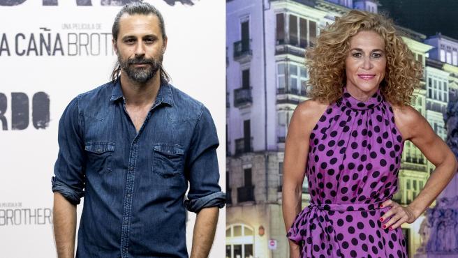 El actor Hugo Silva y la periodista Cristina Fernández, en sendas fotos de archivo.