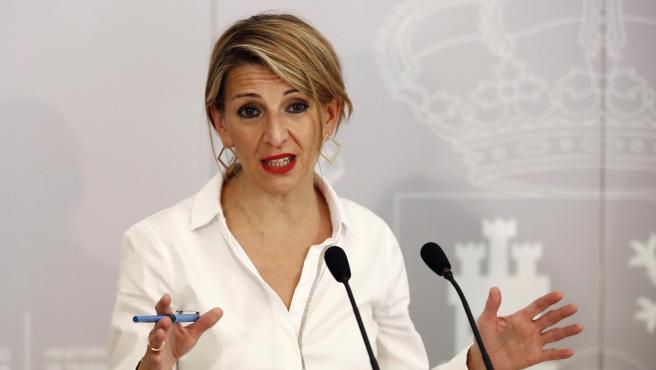 La vicepresidenta tercera del Gobierno y ministra de Trabajo, Yolanda Díaz, en una imagen de archivo.
