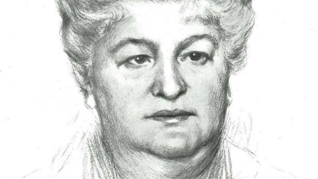 Retrato de Emilia Pardo Bazán, por Gamonal.