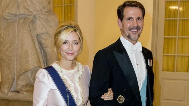 Marie-Chantal de Grecia y Pablo de Grecia en 2018.