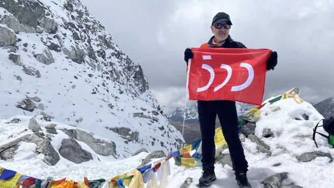El alpinista Sebastián Álvaro, en el Cho La Pass