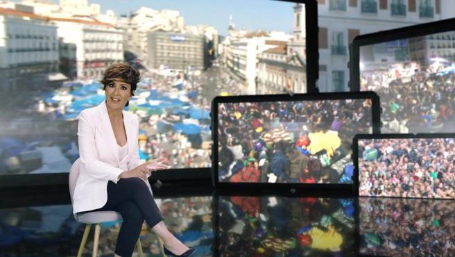 Sonsoles Ónega, en el programa documental '15-M ¿Generación perdida?'.