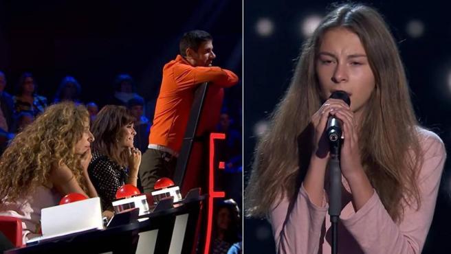 Carmen Puente interpreta en 'La Voz Kids' la canción 'Love is a losing game'.
