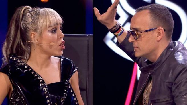 Danna Paola y Risto Mejide protagonizan un pique en 'Top Star'.
