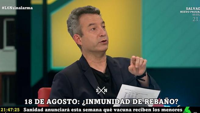 El urgenciólogo César Carballo, en el plató de 'laSexta Noche'.