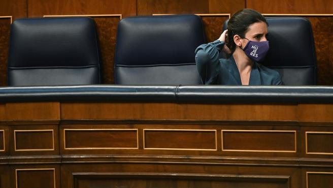La ministra de Igualdad, Irene Montero, este martes en el Congreso.