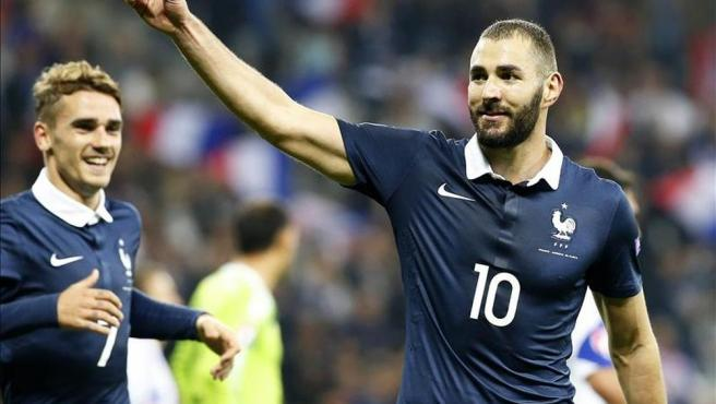 Benzema, con la selección francesa