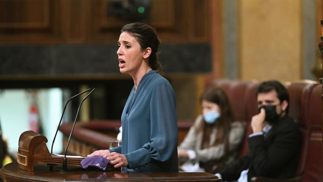 La ministra de Igualdad, Irene Montero, este martes.