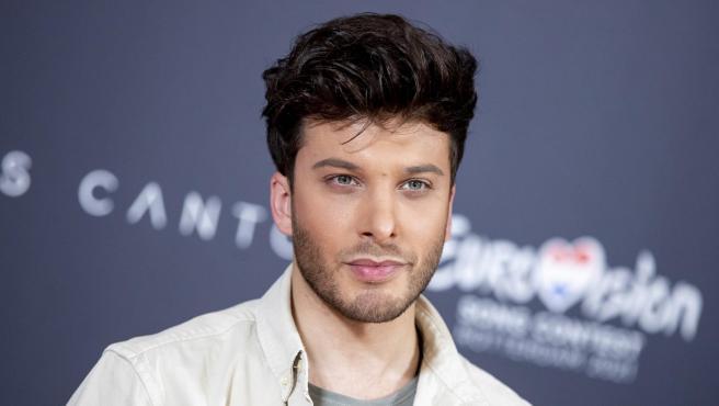 Blas Cantó en la inauguración del Festival de Eurovisión 2021 en Róterdam.