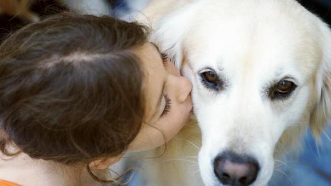 Niña y perro