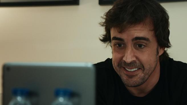 Fernando Alonso, en un capítulo de su serie documental