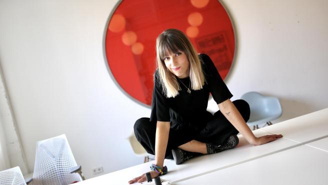 La cantante Maialen posa durante un encuentro con '20minutos'.