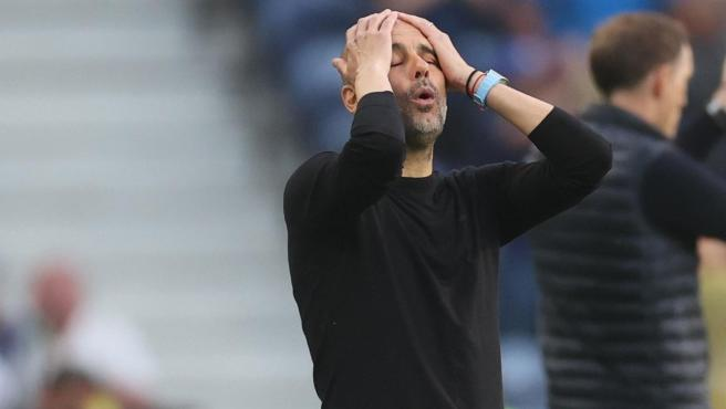 Pep Guardiola, during the final of the Champions 2021