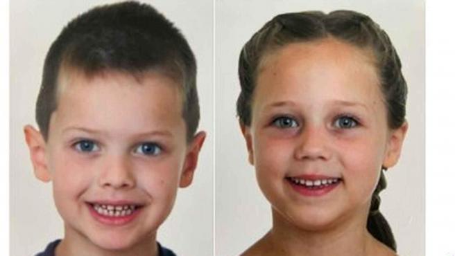 Leonardo y Stephanie, los niños de 5 y 6 años desaparecidos en Estepona a finales de enero.