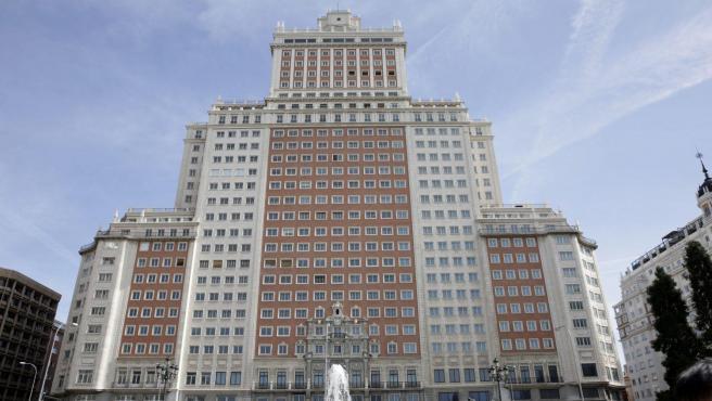 Edificio España situado en la Plaza de España de Madrid.