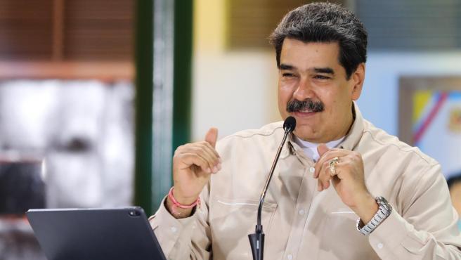 El presidente de Venezuela, Nicolás Maduro, en Caracas.