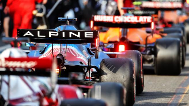 Fernando Alonso, on the second grid of the Azerbaijan GP