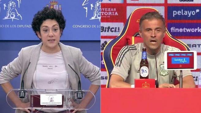 Aina Vidal y Luis Enrique