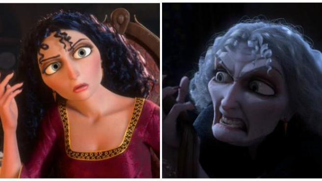 Gothel, la madrastra de Rapunzel, es un claro ejemplo de persona con miedo a envejecer.