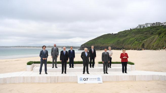 Los líderes del G7 durante la cumbre en Carbis Bay (Reino Unido).