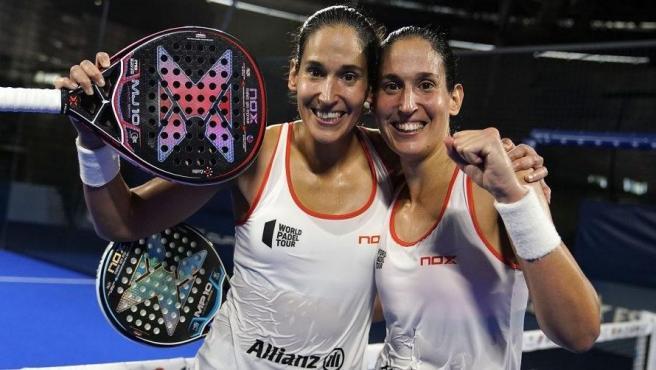 Las gemelas Sánchez Alayeto, tras un torneo