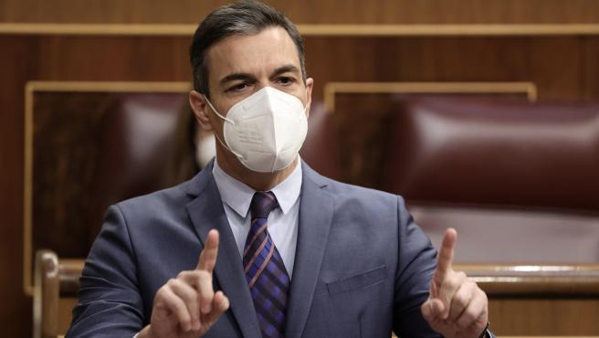 Pedro Sánchez interviene en la Sesión de control al Gobierno en el Congreso del 16/06/2021