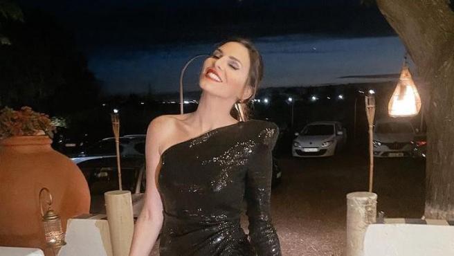 Irene Rosales, durante la celebración por su 30 cumpleaños.