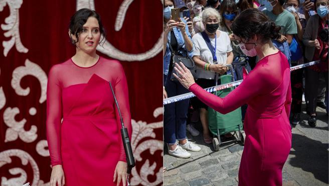 La presidenta de la Comunidad de Madrid, Isabel Díaz Ayuso, este sábado durante la toma de posesión.