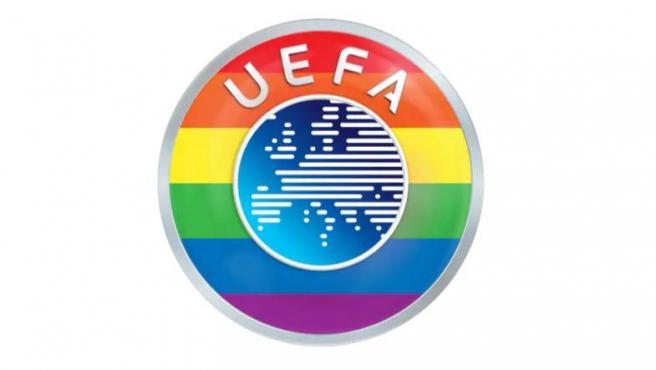 La UEFA se cambia su foto de perfil en Twitter por una con los colores arcoíris.