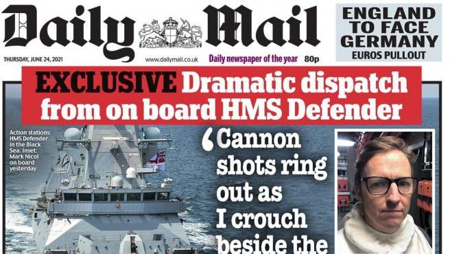 Portada de este jueves del 'Daily Mail'.