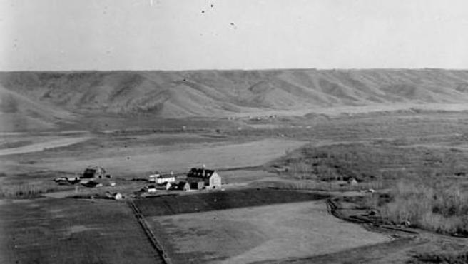 La escuela residencial Marieval, en Saskatchewan, Canadá, en una imagen de 1923.