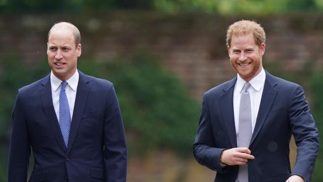 El príncipe Guillermo y el príncipe Harry, en el homenaje por 60º cumpleaños de Lady Di.