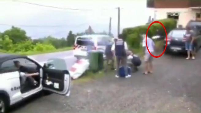Accidente de Stefan de Bod en el Tour de Francia