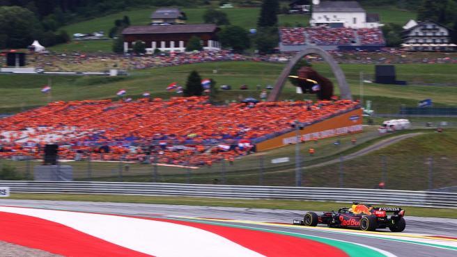Max Verstappen, en el GP de Austria