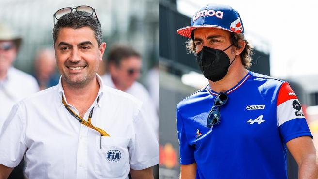 Michael Masi y Fernando Alonso