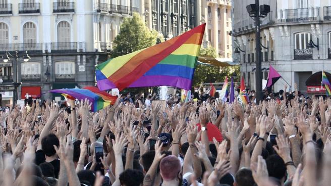 Imagen de la manifestación en Madrid contra el asesinato del joven Samuel.