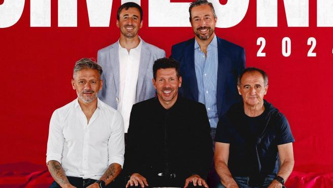 Simeone y su cuerpo técnico renuevan hasta 2024.