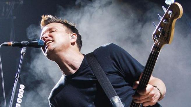 El cantante Mark Hoppus, 2012.
