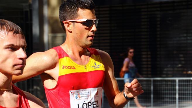 Miguel Ángel López, el atleta que participará en los Juegos Olímpicos de Tokio.