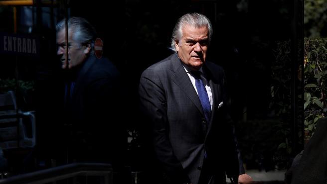 Luis Bárcenas, a su llegada a la Audiencia Nacional este viernes.