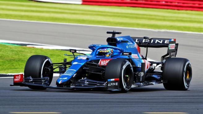 Fernando Alonso, en el GP de Gran Bretaña
