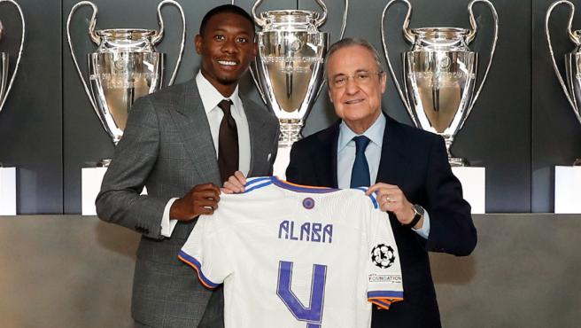 David Alaba, en su presentación con el Real Madrid