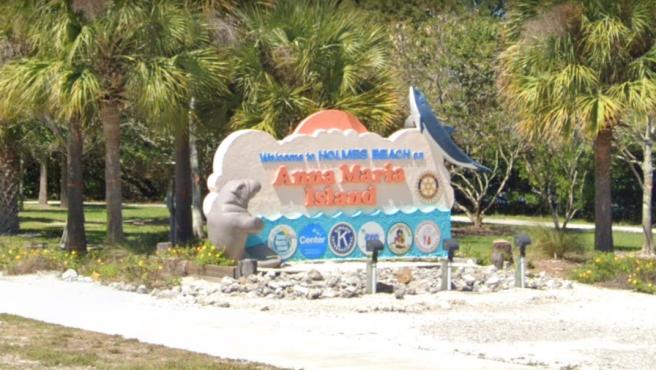 Entrada a Holmes Beach, en la isla Anna Maria (Florida, EE UU).