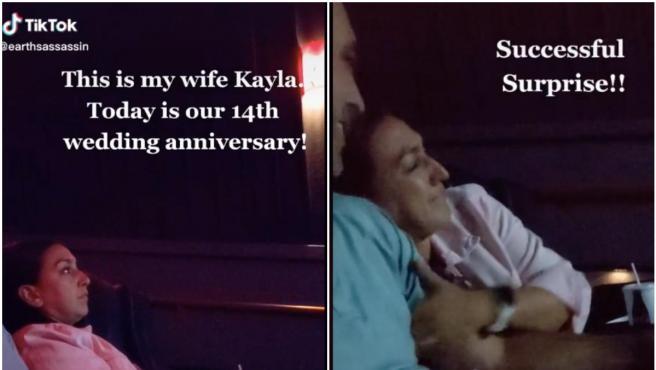 Kayla no sabía que lo que iban a ver era el vídeo de su boda.