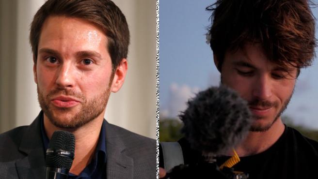 Mirko Drotschmann y Léo Grasset, en sus perfiles de Twitter.