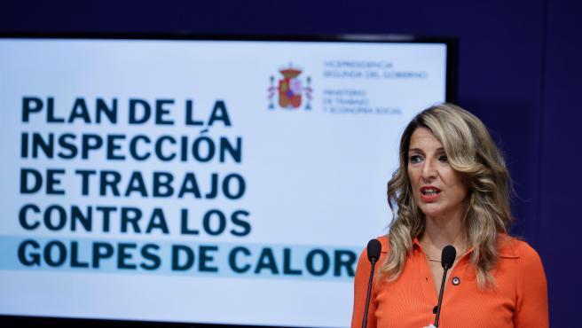 La vicepresidenta segunda y ministra de Trabajo, Yolanda Díaz.