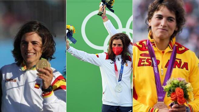 Maialen Chourraut y sus tres medallas olímpicas.