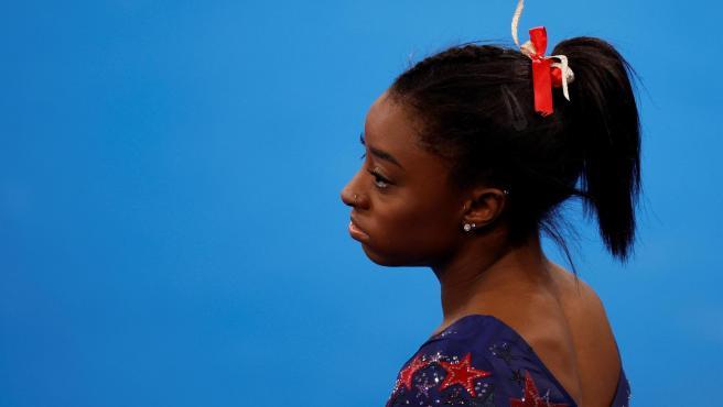Simone Biles, en los Juegos Olímpicos de Tokio 2020.