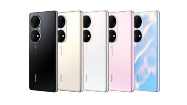 La trasera y los cinco colores del Huawei P50 Pro